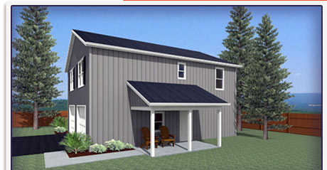 Pole Barn Home exterior architectural renderings